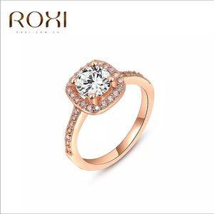 Roxi Brand Engagement/Wedding Ring Rose Gold SZ 8